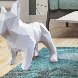 Bulldog Frances Plantilla 3D