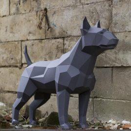 Escultura de Bull Terrier