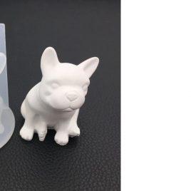 Molde cristal espejo de Silicona Bulldog Frances