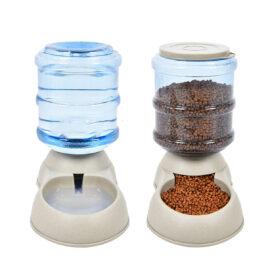 Bebedor y alimentador automático  para perros y gatos de 3,75 L