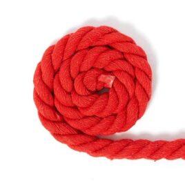 Cuerda nylon resistente al desgarro 100 m 10 mm Rojo